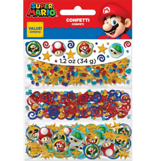 Super Mario Brothers Confetti Value Pack Paper & Foil - 34 Grams