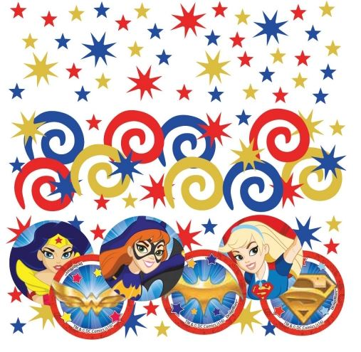 Super Hero Girls Confetti Value Pack Paper & Foil - 34 Grams