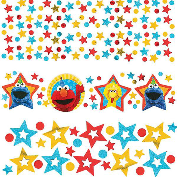 Sesame Street Confetti  Value Pack Cardboard & Foil - 34 Grams