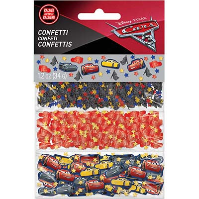 Cars 3 Confetti Value Pack Cardboard & Foil - 34 Grams