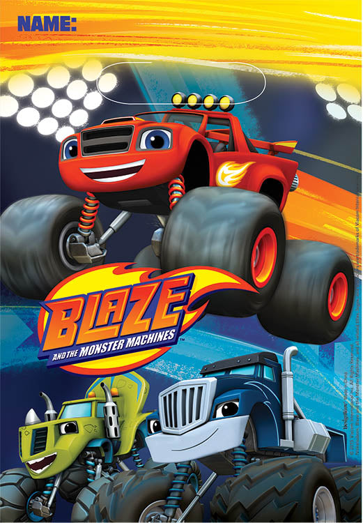 Blaze & The Monster Machines Loot Bags 22cm x 16cm Plastic - Pack of 8