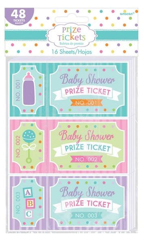 Baby Shower Prize Tickets for Games 48 Tickets - Each