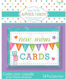 Game Baby Shower New Mummy Advice Cards  - Pack of 24