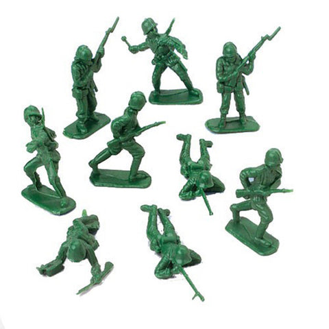 Camouflage Army Soldiers Men Favors Assorted Designs Approx 5cm Plastic - Pack of 24