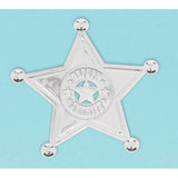Bandana & Blue Jeans Sheriff Badges (5.5cm x 5.5cm) - Pack of 8