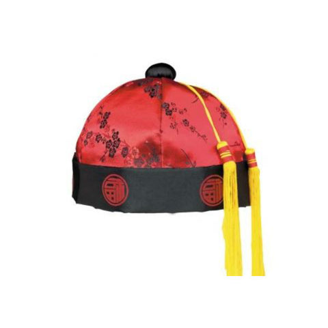 Chinese Mandarin Hat Fabric (One Size Fits Most) - Each