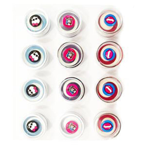 Monster High Lip Gloss Favors (2.9g) Assorted Colours Blue, Purple & Red - Pack of 12