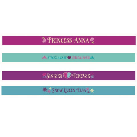 Frozen Bracelets Favors Rubber (4 different designs in each pack) - Pack of 4