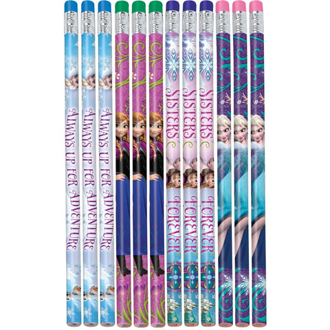 Frozen Pencils 4 designs per pack - Pack of 12