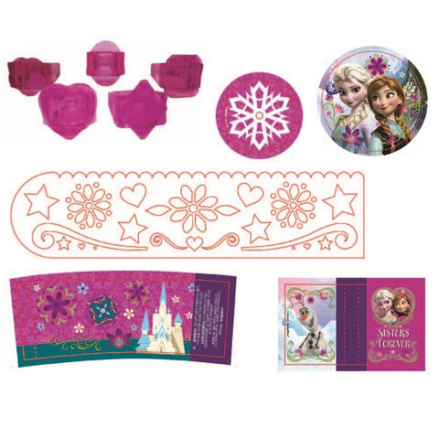 Frozen Favors Value Pack (Contains 8 Each of Crystal Rings, Tracer Rulers, Cylinder Prism Viewers, Laser Tops, Maze Puzzles, Miniature Sketch Pad) - Pack of 48
