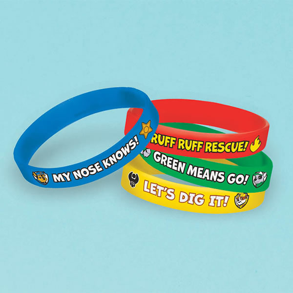 Paw Patrol Bracelet Favours Pack of 4