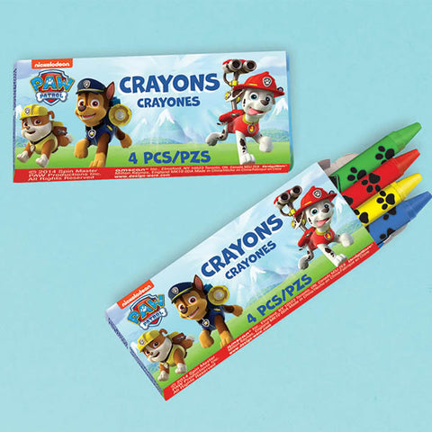 Paw Patrol Crayons Favors 12 packs with 4 crayons in each - Pack of 12