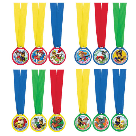 Paw Patrol Mini Medals 12 Pack
