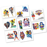 Super Hero Girls Tattoos 1 x Perforated Sheet - 16 Tattoos - Each
