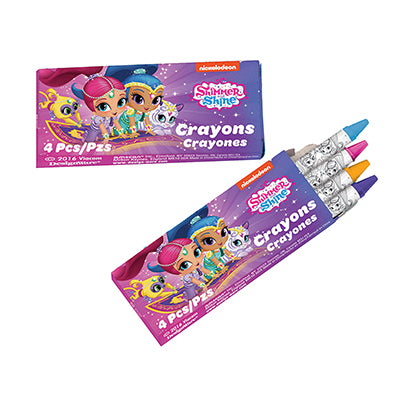 Shimmer & Shine Crayons Favors 12 Packs with 4 Crayons in Each - Pack of 12