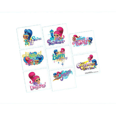 Shimmer & Shine Tattoos 1 x Perforated Sheet - 8 Tattoos - Each