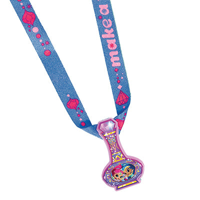 Shimmer & Shine Charm Necklaces Favors Plastic Charm & Material Necklace - Pack of 12