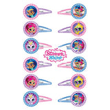 Shimmer & Shine Hair Clips Favors Glittered Assorted Designs Plastic - Pack of 12