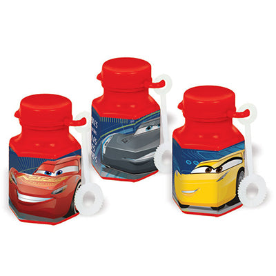 Cars 3 Mini Bubbles Favors Assorted Designs 18ml each - Pack of 12