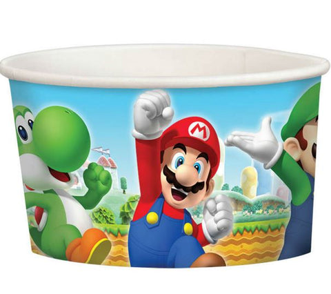 Super Mario Brothers Treat Cups Cardboard 8oz - 240g - Pack of 8
