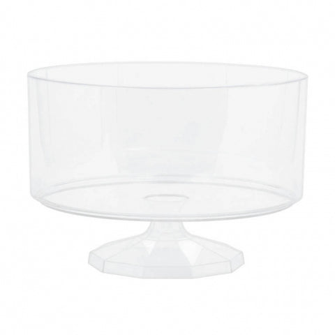 Trifle Container Medium Plastic 18.7cm - Clear (Candy Buffet) - Each