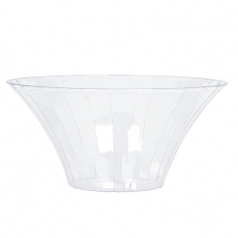Flared Bowl Container Medium Plastic 17cm Diameter - Clear (Candy Buffet) - Each