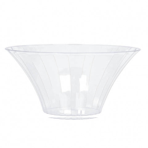 Flared Bowl Container Large Plastic 23cm Diameter - Clear (Candy Buffet) - Each