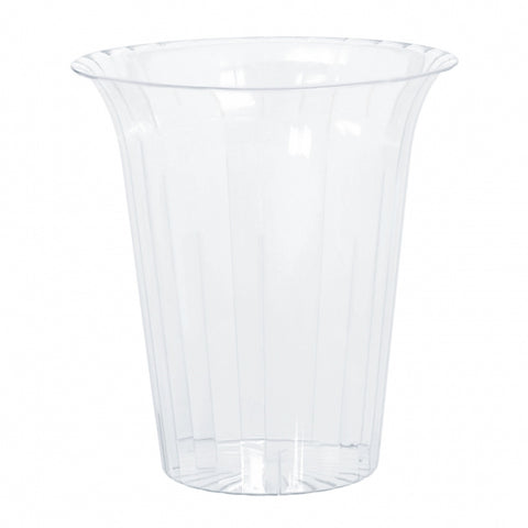 Flared Cylinder Container Medium Plastic 15cm - Clear (Candy Buffet) - Each