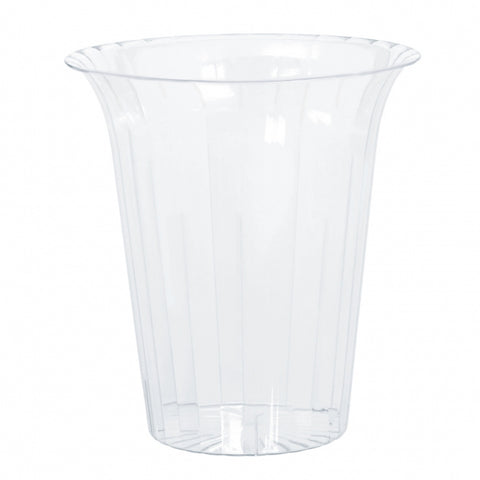 Flared Cylinder Container Large Plastic 20cm - Clear (Candy Buffet) - Each