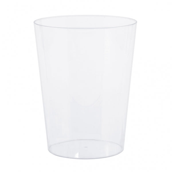 Cylinder Container Medium Plastic 15cm - Clear (Candy Buffet) - Each