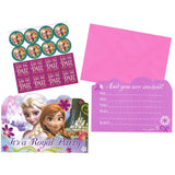 Frozen Party Invitations & Envelopes with Save the Date Stickers & Seals - Pack of 8