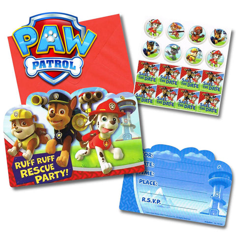 Paw Patrol Invitations Pack