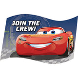 Cars 3 Invitations Join The Crew! Includes Envelopes, Seals & Save the Date Stickers - Pack of 8