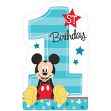 Mickey 1st Birthday Invitations Fun To Be One & Envelopes  - Includes 8 x Seals & 8 x Save the Date Stickers - Pack of 8