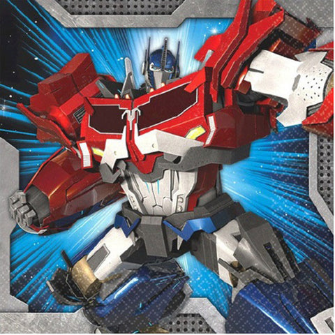 Transformers Beverage Napkins 25cm x 25cm - 2 Ply - Pack of 16