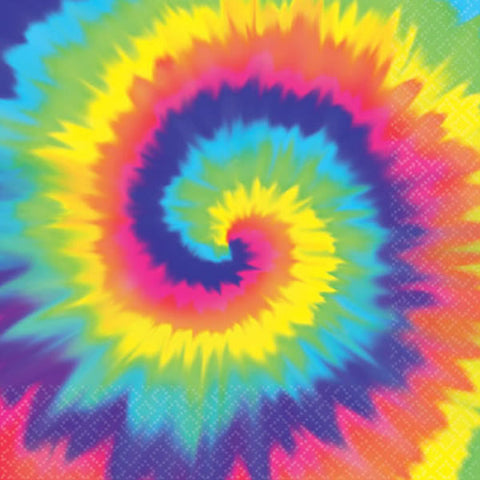 Lunch Napkins Tye Dye Feeling Groovy (32cm x 32cm) 2 Ply - Pack of 16