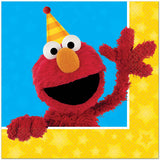Sesame Street Luncheon Napkins 2 Sided Design 33cm x 33cm 2 Ply - Pack of 16