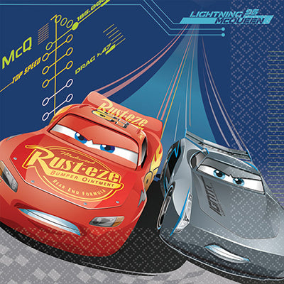 Cars 3 Luncheon Napkins 33cm x 33cm 2 Ply - Pack of 16