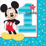 Mickey 1st Birthday Lunch Napkins Fun To Be One 33cm x 33cm 2 Ply - Pack of 16