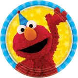 Sesame Street Luncheon Plates Elmo & Cookie Monster 18cm Paper - Pack of 8