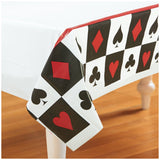 Place Your Bets Casino Plastic Tablecover (137cm x 259cm) - Each