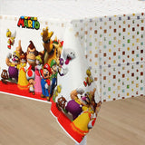 Super Mario Brothers Tablecover Plastic 137cm x 243cm - Each