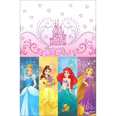 Princess Dream Big Tablecover Plastic 137cm x 243cm - Each