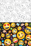 LOL Emoji Tablecover Plastic Smiley Faces 137cm x 244cm - Each