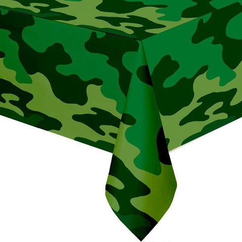 Camouflage Tablecover Paper 137cm x 259cm - Each