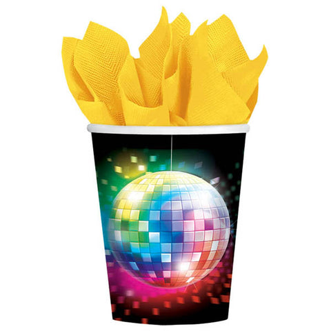 Disco Fever Paper Cups (266ml) - Pack of 8