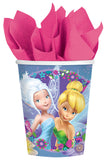 Tinker Bell Cups & Best Friends Fairies 266ml Paper - Pack of 8
