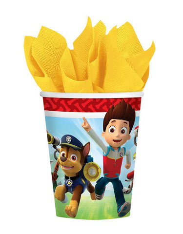 Paw Patrol Cups Paper 266ml  - Pack of 8