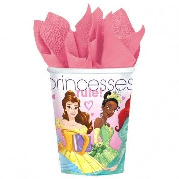 Princess Dream Big Cups Paper 266ml  - Pack of 8