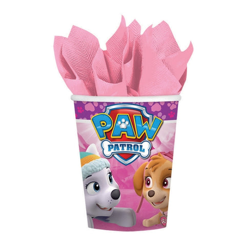 Paw Patrol Girls Cups Paper 266ml  - Pack of 8